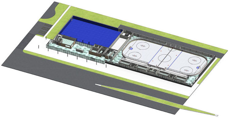 Bird's eye view of the Morgan Park Sports Center (looking east) shows the proposed cul-de-sac in the upper left corner. Image: Beverly Review